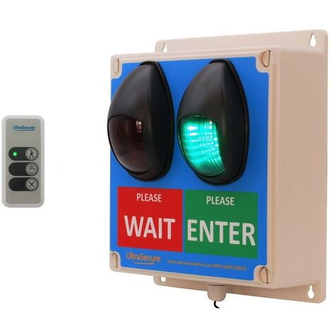 Large Wireless Customer Entry Traffic Light Kit D with Intelligent Portable Controller [009-4750]