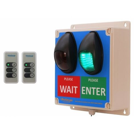 Large Wireless Door Entry Traffic Light Kit E with 2 x Intelligent Portable Controllers [009-4760]