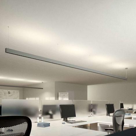 Laris LED office pendant light, silver