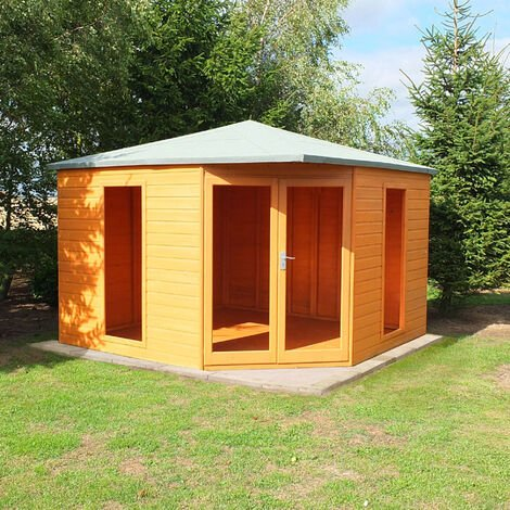 Larkspur 10' x 10' Double Door with Two Fixed Windows Summerhouse