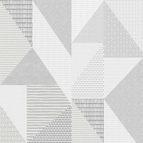 Larsson Geometric Wallpaper Catherine Lansfield Grey White