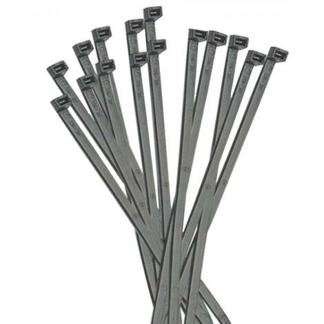 Las ataduras de cables de Elematic de Plástico 365x7,8mm 100 piezas Negro 5327E