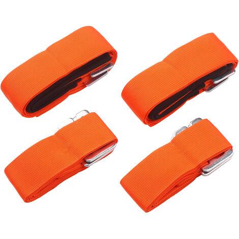 Las cintas de elevacion se mueven las correas de polipropileno de alta resistencia de transporte para hombro correas correas de hombro ajustable para movil que lleva de levantar muebles grande de articulos voluminosos, Naranja