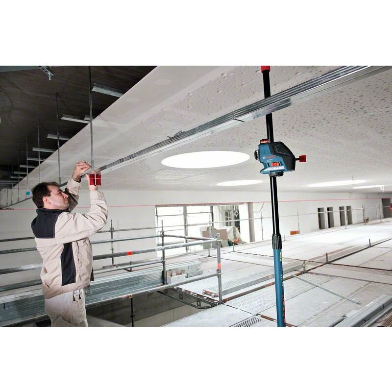 support universel BM 1 et r?cepteur laser LR 2 Laser croix GLL 3-80 P Bosch