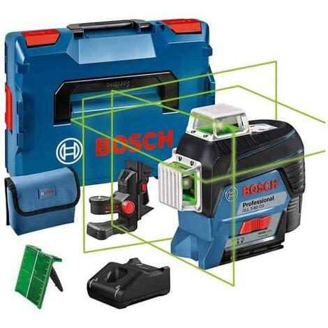 BOSCH Laser lignes auto 3 plans vert 40m GLL3-80CG + BM1plus - 0601063T00