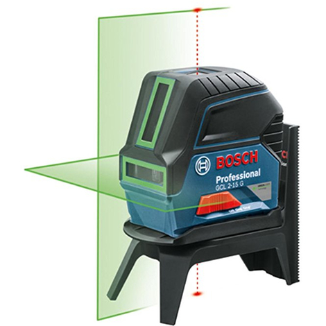 Laser BOSCH GCL2-15G Croix verte - Portée 15m - 0601066J00