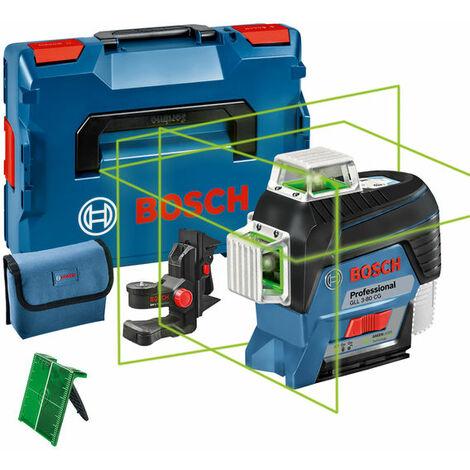 Laser de línea Bosch GLL 3-80 CG solo + BM1 + LBOXX