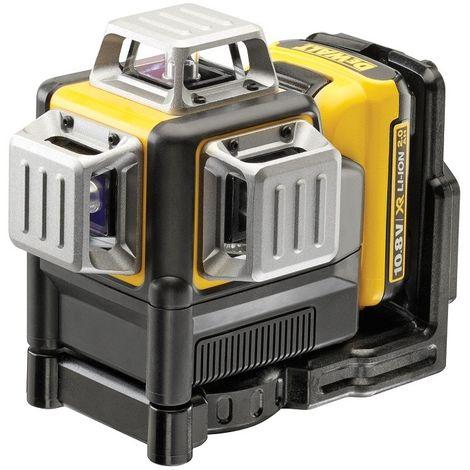 Laser DEWALT 3X360° - Faisceau Rouge- 10.8V 2.0Ah - Batterie et chargeur - DCE089D1R