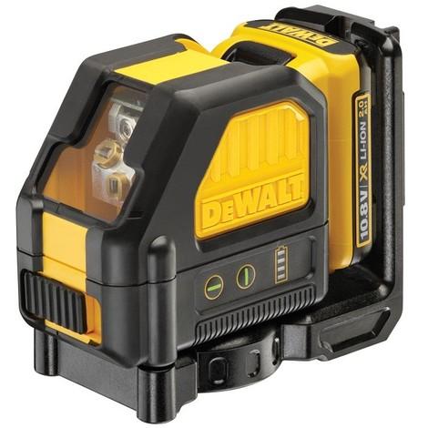 Laser en croix 10.8V 2.0Ah DEWALT faisceau vert + batterie et chargeur - DCE088D1G