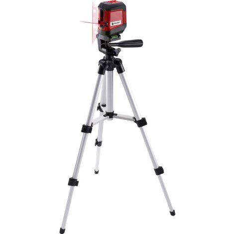 Laser en croix TOOLCRAFT CL8 TO-6425604 avec trépied, autonivelant Portée (max.): 8 m 1 pc(s)