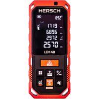 Laser Entfernungsmesser HERSCH LEM 0,05 - 40 m LCD Display Ni-MH 800 mAH Akku Schutztasche