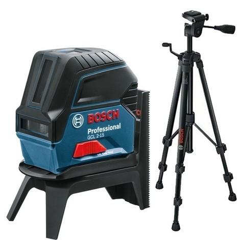 Laser GCL 2-15 BOSCH point et ligne 15 m + trépied BT150 - 06159940FV