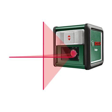 Laser ligne en croix Bosch - Quigo 3 (Portée 10 mètres, livreé avec pince de fixation MM2)