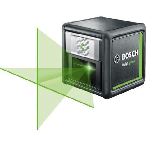 Laser lignes Quigo green Bosch - Livré avec 1 pince universelle MM2, 1 adpatateur de fixation rapide, 2 piles AAA