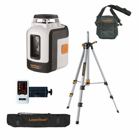 Laserliner SmartLine-Laser 360 ° Set Láser de líneas cruzadas con soporte y receptor en bolsa - 2 líneas - 30 m