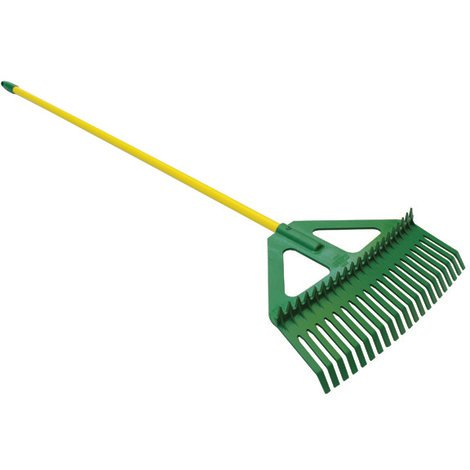 LASHER COMBINATION LEAF RAKE WITH A STEEL HANDLE