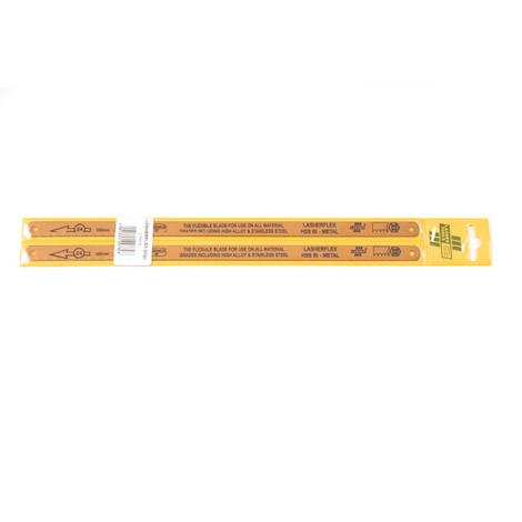LASHERFLEX BIMETAL HACKSAW BLADES - 300mm x 24 TPI (TWO PACK)