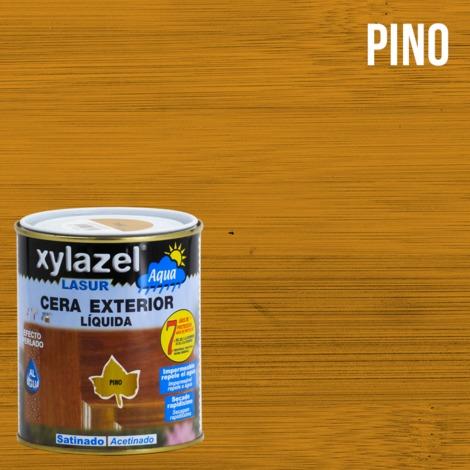 Lasur Cera exterior al agua satinada 750 ML Xylazel | Pino
