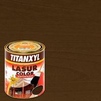 Lasur Titanxyl Satinado 4L | 4 L - Nogal
