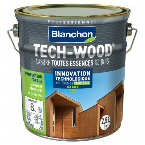 Lasure Bois Extérieur TECH-WOOD BLANCHON haute résistance aux UV et aux intempéries