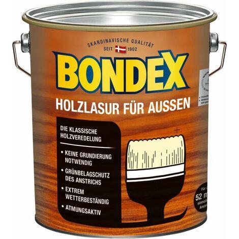 Lasure Bondex pour bois bleu clair/gris (RAL 2053) d'extérieur 4,00 l - 365229