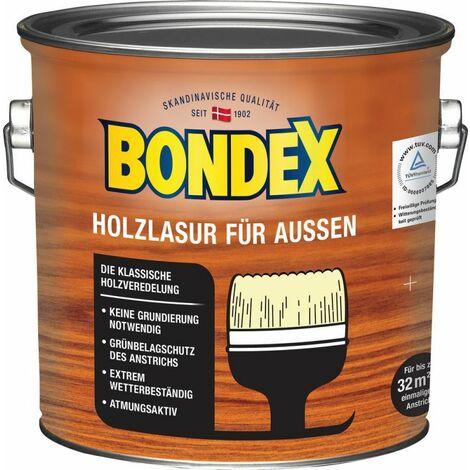Lasure Bondex pour bois de gris foncé d'extérieur 2,50 l - 365230