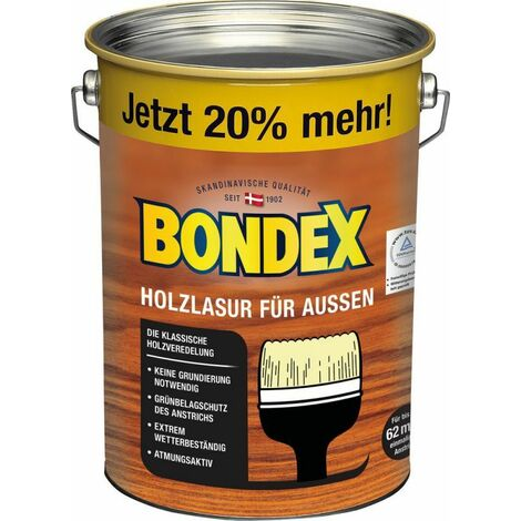 Lasure Bondex pour bois de rio palissandre d'extérieur 4,80 l - 329673