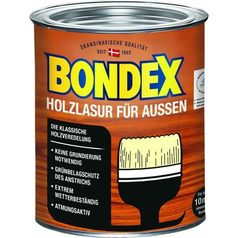 Lasure Bondex pour bois de teck d'extérieur 0,75 l - 329653