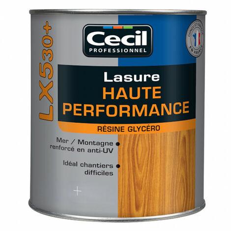 Lasure Cecil Professionnel Haute Performance LX530+ résine glycéro 1L - plusieurs modèles disponibles
