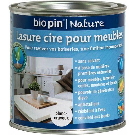 lasure cire naturelle pour meubles 0 375 l blanc crayeux. Black Bedroom Furniture Sets. Home Design Ideas