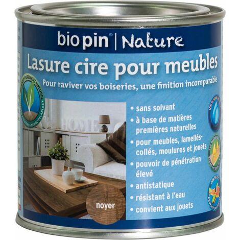 Lasure cire naturelle pour meubles 0,375 L - Noyer