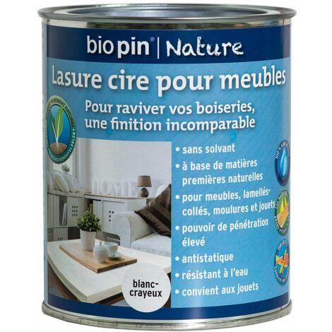 lasure cire naturelle pour meubles 0 75 l blanc crayeux. Black Bedroom Furniture Sets. Home Design Ideas