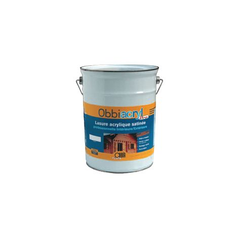 Lasure haute performance Obbiacryl Pro 5L OBBIA - incolore