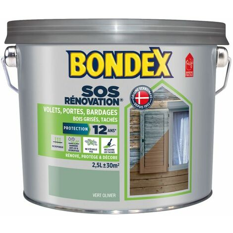 Lasure Opaque Rénovation Volets, Satin Bondex