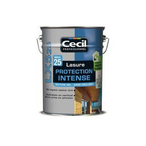 Lasure pro gel acrylique 5L incolore LX525 CECIL - plusieurs modèles disponibles