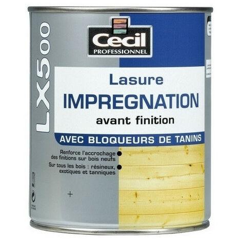 Lasure professinonelle d'imprégnation avant finition incolore LX5000 Cecil Professionnel - plusieurs modèles disponibles
