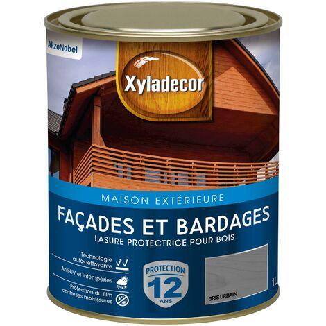 Lasure protectrice 1L Satin - Facades et Bardages - bois extérieur - Xyladecor
