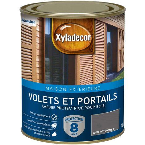 Lasure protectrice 1L Satin - Volets et Portails - bois extérieur - Xyladecor
