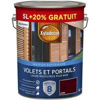 Lasure protectrice 5 & 6L Satin - Volets et Portails - bois extérieur - Xyladecor