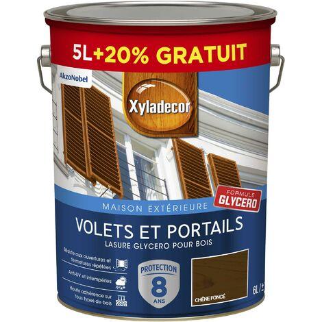 Lasure protectrice glycéro 5 & 6L Satin - Volets et Portails - bois extérieur - Xyladecor