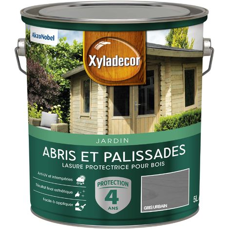 """main image of """"Lasure protectrice 5L Mat - Abris et Palissades - bois extérieur - Xyladecor"""""""