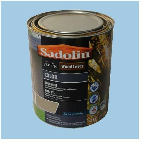 Lasure SADOLIN Wood Lover COLOR CHALETS Satinée Bleu Islandais 2,5L - 2,5 L