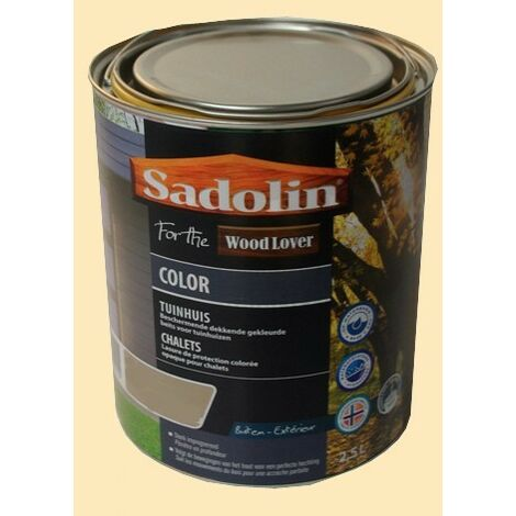 Lasure SADOLIN Wood Lover COLOR CHALETS Satinée Foin 2,5L - 2,5 L