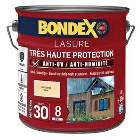 Lasure très haute protection 2,5L anti-UV anti-humidité BONDEX - plusieurs modèles disponibles