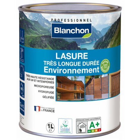 Lasure très longue durée Environnement Blanchon 1L - Plusieurs modèles disponibles