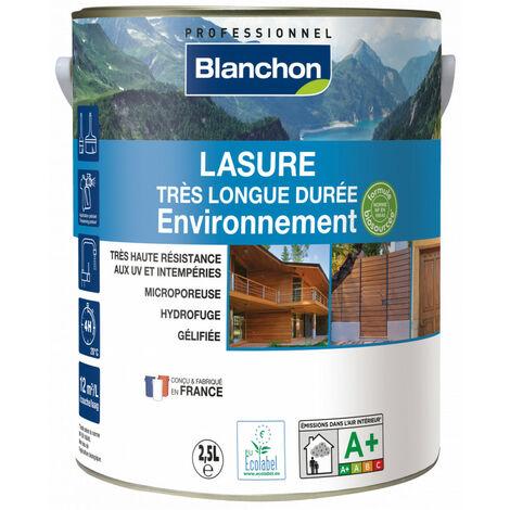 Lasure très longue durée Environnement Blanchon 2,5L - Plusieurs modèles disponibles