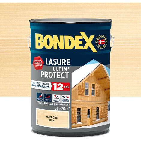 Lasure Ultim' Protect 12 Ans,Satin, Teck 5L Bondex - Teck