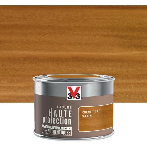 Lasure V33 Hp les authentiques 8 ans chêne doré satiné 0.125 l