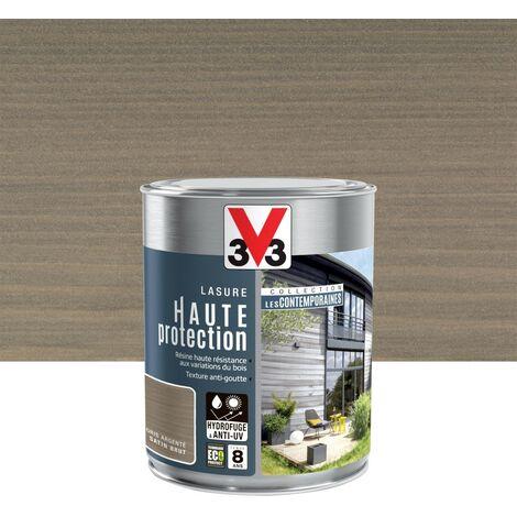 Lasure V33 Hp les contemporaines 8 ans gris argenté satiné 1 l