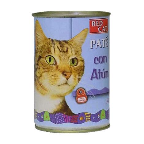 Lata de paté RED CAT 400g rico en atún para gatos